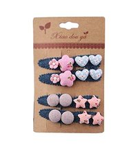8 pieces Baby Girls Edge Bangs Hair Clips Barrettes Hair Pins, NO.14