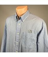 North Carolina M Mens Shirt Size Medium Tarheels NCAA Long Sleeve Button... - $21.49
