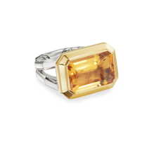 DAVID YURMAN Novella Statement Silver Ring With 18K Gold And Citrine   - $1,360.00