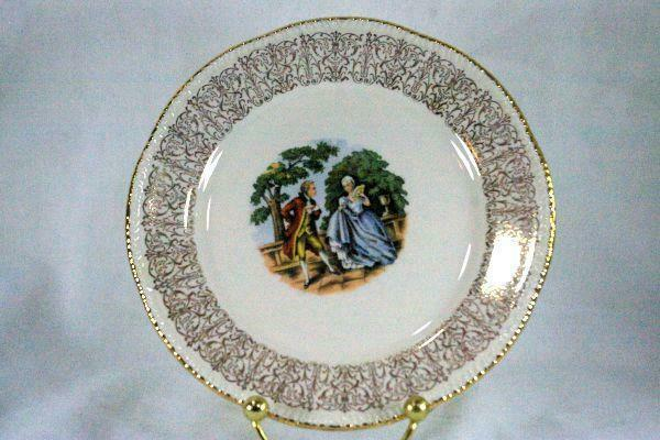 Homer Laughlin 1950's Liberty Line Courting Couple Bread Plate
