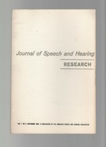 Journal of Speech & Hearing Research - September 1964 - Electromyographi... - $7.35
