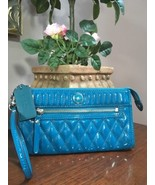 Coach Poppy Zippy Wallet Liquid Gloss Turquoise Patent Leather  48161 W23 - $84.14