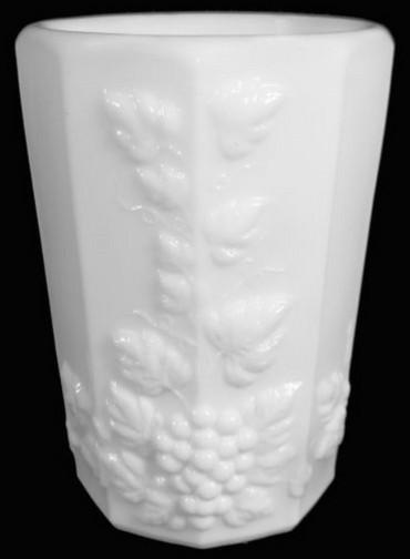 76625aa westmoreland milk glass paneled grape 8 oz flat drinking tumbler vintage