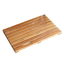 Facilehome Teak Bath Mat Non Slip Luxury Spa Solid Teak Bath Mat Indoor/... - $60.65