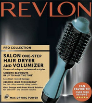Revlon PRO Collection Salon One Step Hair Dryer and Volumizer Brush Teal- New - $113.85