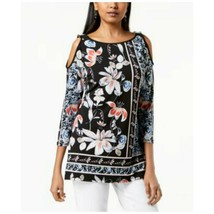 JM Collection Blouse Print Embellished Cold-Shoulder Amelia Terrace Wome... - $53.96