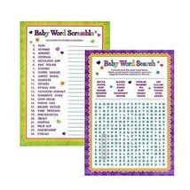 Baby Dusche Wort SPIELE - Word Search & Wort Scramble für junge Mädchen ... - €5,05 EUR+