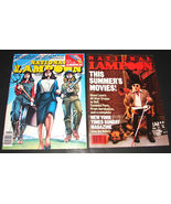 2 NATIONAL LAMPOON Magazines Aug 1981 & June 1984 VG Summer Movies GET I... - $19.99