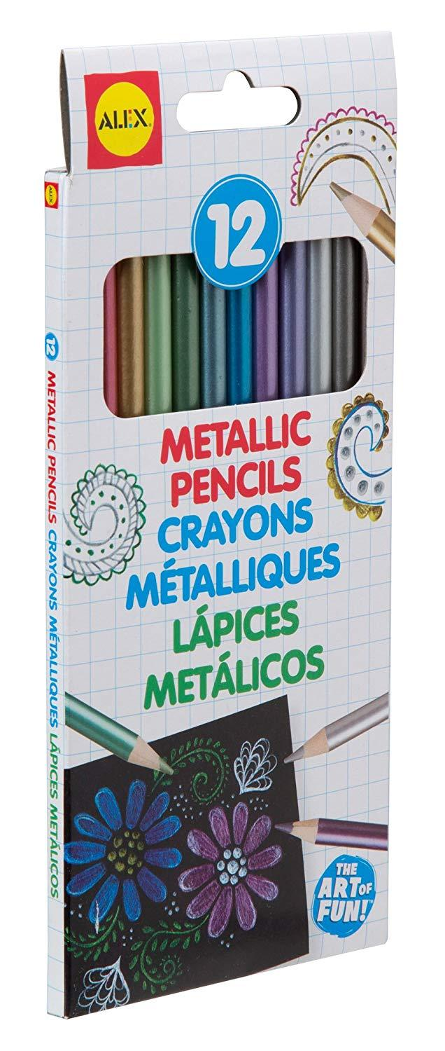 Primary image for 12pc Alex Metallic Colored Pencils