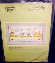 Nobody's Purrfect Cat Kitten Counted Cross Stitch Kit Rick St. Dennis St... - $9.89
