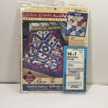 Bow Tie Joann Fabrics Quilt Block of the Month Kit July 1996 - $19.34