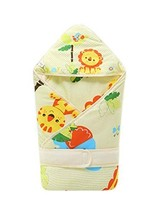 PANDA SUPERSTORE Soft and Warm Animal Pattern Cotton Baby Swaddle Blankets Yello