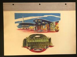 DISNEYLAND Concept Art Lithograph 60th VIP Gift 9x12 1954 Tomorrowland Rocket - $23.02