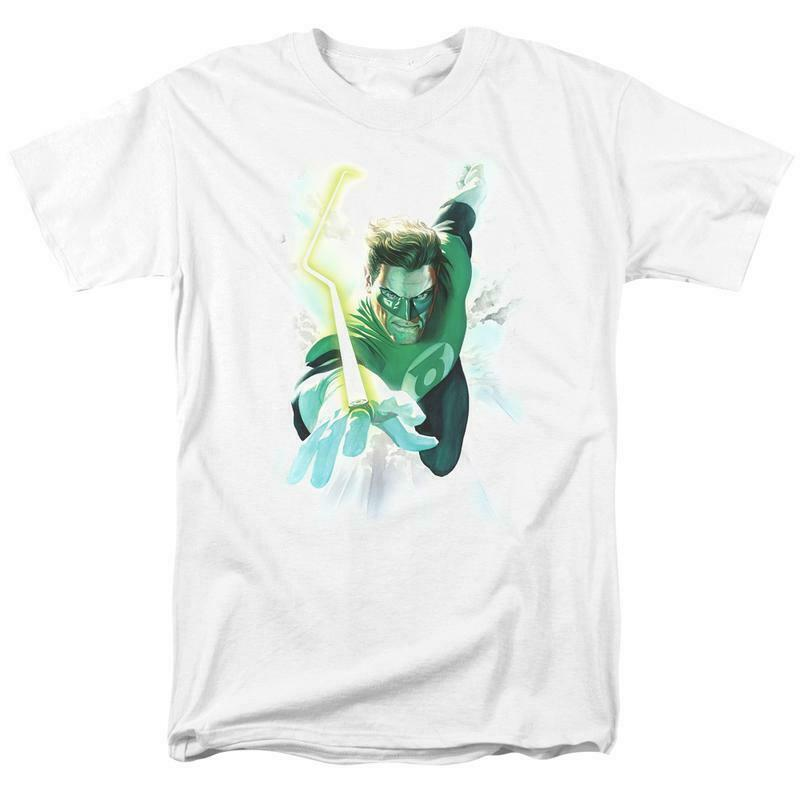 Green Lantern DC Comics Superhero Retro DC Universe graphic t-shirt GL389
