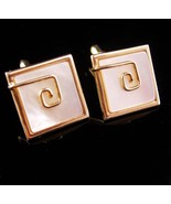 Exquisite Wedding Cufflinks -Vintage mother of pearl - abstract design -... - $110.00