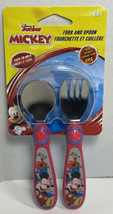 Disney Junior Mickey Mouse Baby & Toddler Fork & Spoon Set New BPA Free - $7.84