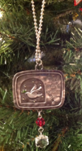 Ganz Christmas Ornament Peace Be With You Pewter Crystals New - $9.36