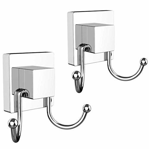 HOME SO Double Hooks with Suction Cup Holder, Prisma Collection - Removable Show