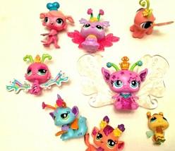 Hasbro Littlest Pet Shop Lot of 7 Winged Glitter Figures Crown Baker SKU... - $12.95