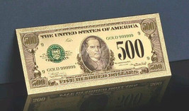 <OLD STYLE EARLY 1900s> GOLD $500.00 Rep.* Banknote~DETAILED TO PERFECTION - $11.23
