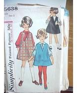 Vintage Sewing Pattern 1970 Girls Shirt Jumper Dress A Line Simplicity 5... - $7.79