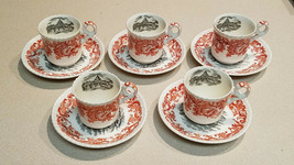 Vintage Set of 5 Copeland Spode Beverly Teacup And Saucers Made In England - $149.44