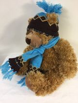 "Mary Meyer Plush St. Jude Oliver Bear 16"" Stuffed Animal in Blue Knit Hat Scarf image 7"