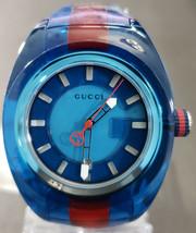 Gucci SYNC XL Blue Dial Unisex Two Tone Watch YA137112 - Retail $610 (45% off) - $335.00