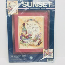 Sunset Stamped Cross Stitch Kit The Greatest Gifts 11 x 14 NIP - $12.20