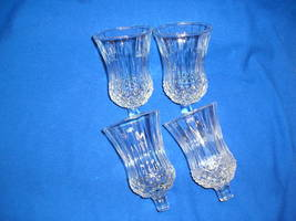 4 Homco  Home Interiors 1241 Small Diamond Crystal Votive Candle Holders  - $25.50