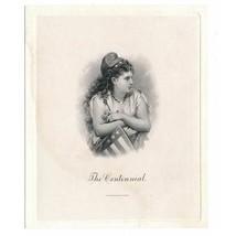 """The Centennial"" Die Proof Vignette by Charles Burt 1876 Liberty Josie M... - $79.00"