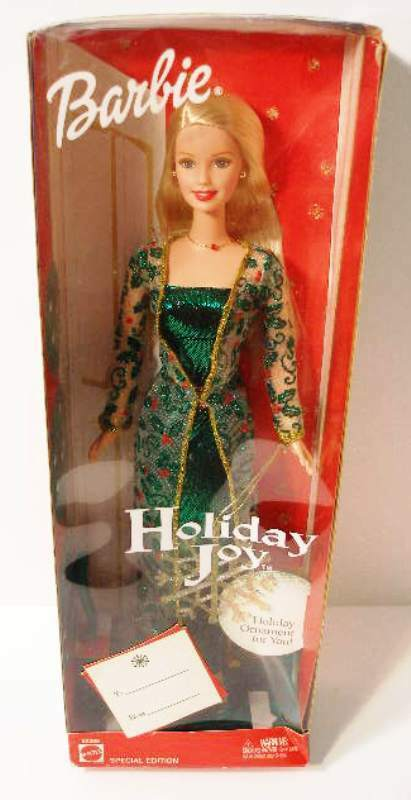 Primary image for Barbie Doll Holiday Joy 2003 Blonde Special Edition Ornament New Age 3+