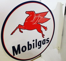 "Mobilgas Flange Sign 12"" Diameter - $75.00"