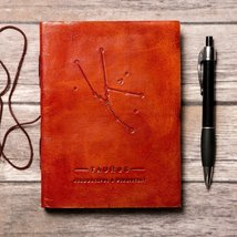Taurus Zodiac Handmade Leather Journal - $27.00