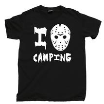 I Love Camping T Shirt, Jason Hockey Mask Friday The 13th Men's Cotton Tee Shirt - $13.99+