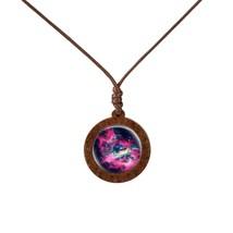 Lightning Spiral Nebula Lightning Real Wooden Pendant The Galaxy Necklace Beauti - $8.00