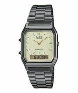 Casio AQ230GG-9A Analog Digital Gray Ion Plated Stainless Steel Band Watch - $44.54