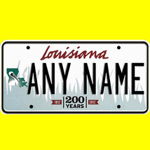 1/43-1/5 scale custom license plates any brand RC/model car - Louisiana tag - $11.00