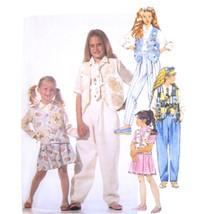 1990s Vintage McCalls Sewing Pattern 6802 Girls Skirt Shirt Vest Pants 7... - $6.95