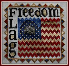 Freedom Flag Word Play cross stitch chart Hinzeit - $7.20