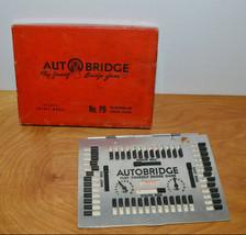 VINTAGE AUTO BRIDGE GAME DELUXE POCKET MODEL NO. PB 1950 WITH BOX - $12.79