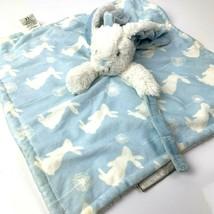 Blankets Beyond Blue White Bunny Rabbit Lovey Security Blanket Dandelion... - $26.14