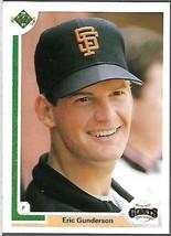 1991 Upper Deck BASEBALL-#315-Eric Gunderson-Padres-Pitcher - $3.96
