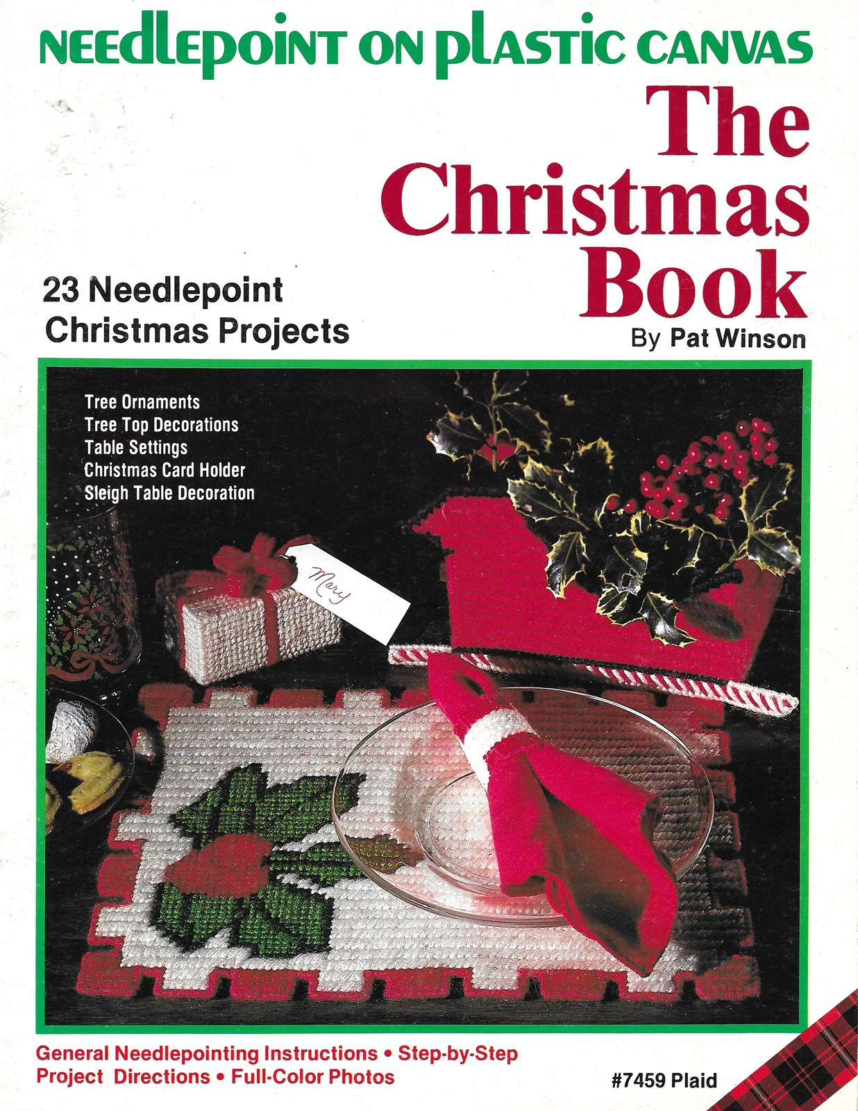 Plaid Crafts The Christmas Book Needlepoint on Plastic Canvas Patterns - $5.99