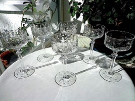 Set of 6 Rock Sharpe Clear Liquor Cordial Glasses #1007-12 c 1940's - $41.57