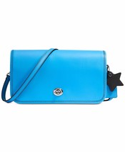 NWT COACH TURNLOCK GLOVETANNED LEATHER CROSSBODY BAG AZURE BLUE - $104.49