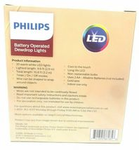 NEW Philips Battery Operated 30 Warm White Dewdrop Fairy Lights w 6/18hr Timer image 3
