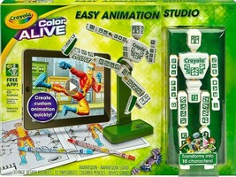 New Kid's Crayola Color Alive Create Easy Animation 3-D Graphics Studio NIB