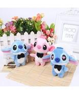 Kawaii LOVERS LILO And Stitch Plush  Phone Charm Strap BAG Key Chains Pe... - $20.99