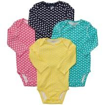 NWT Baby Girl Carter's Bodysuit 4pack Longsleeve 6M Months Bird Butterfl... - $16.99